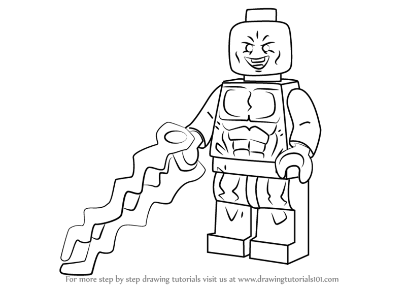 Learn How to Draw Lego Electro Lego Step by Step