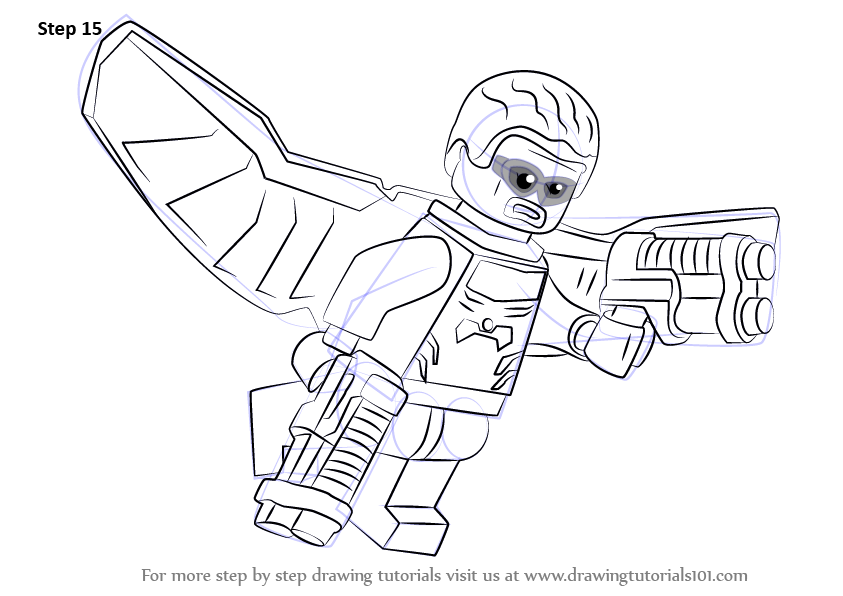 Learn How to Draw Lego Falcon Lego