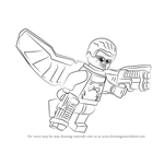 How to Draw Lego Falcon