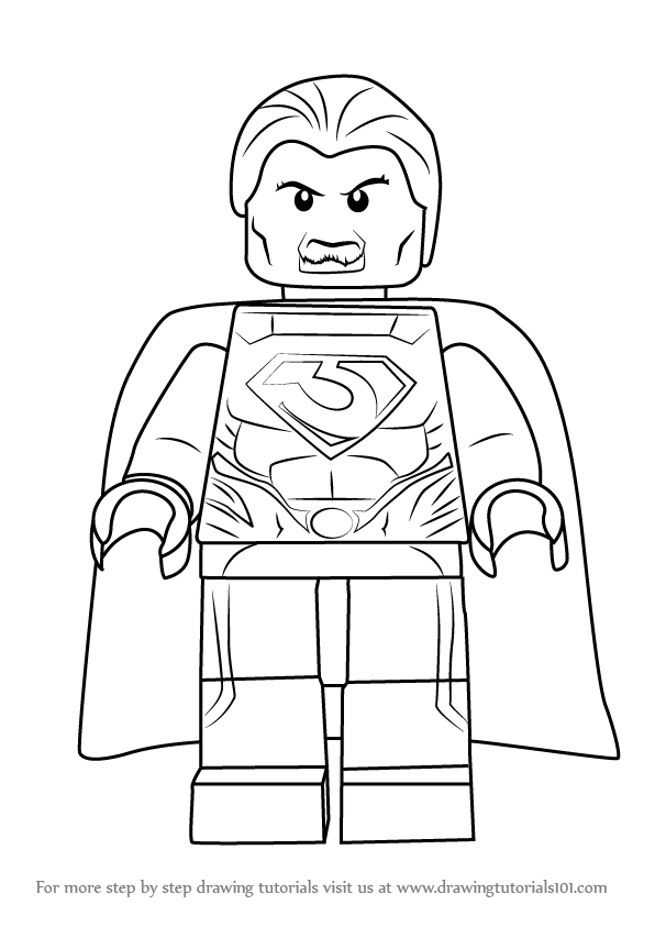 Step By Step How To Draw Lego General Zod
