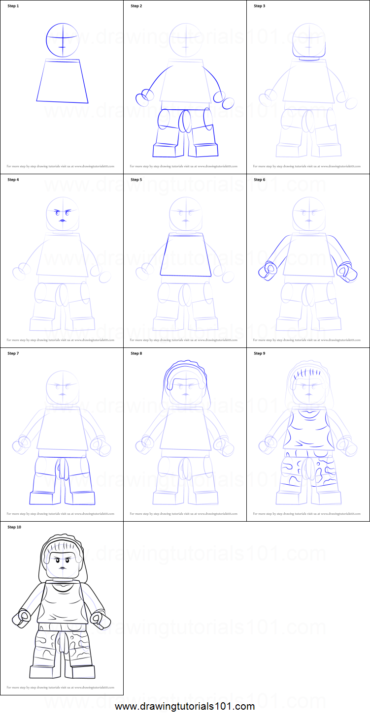 How To Draw Lego Gorilla Girl Printable Step By Step Drawing Sheet
