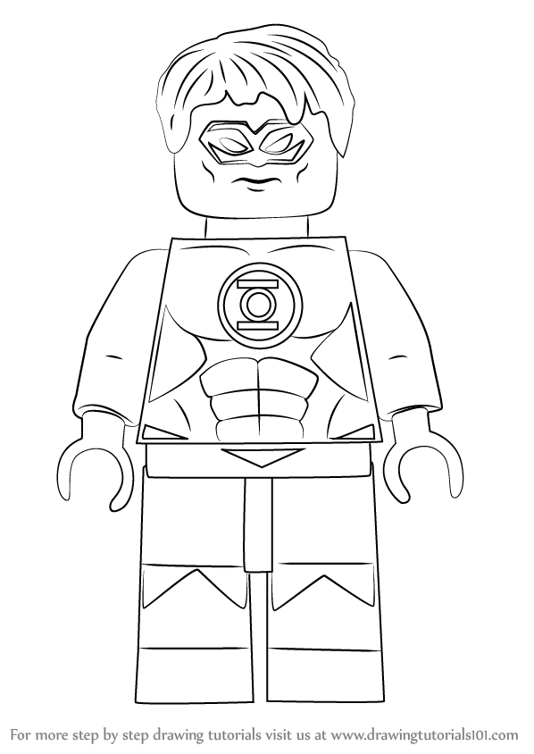 Learn How To Draw Lego Green Lantern Aka Hal Jordan Lego