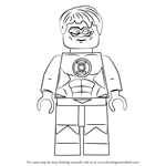 How to Draw Lego Green Lantern aka Hal Jordan