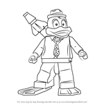 How to Draw Lego Howard the Duck