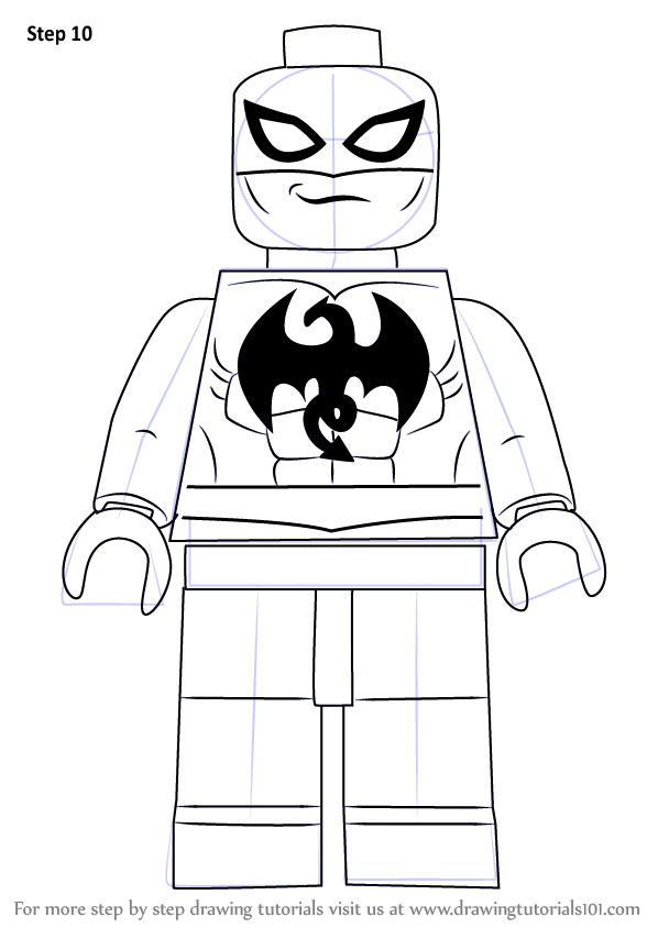 Step by Step How to Draw Lego Iron