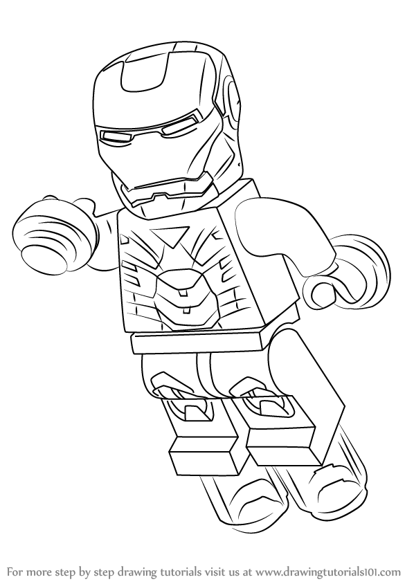 Learn How to Draw Lego Iron Man (Lego) Step by Step ...