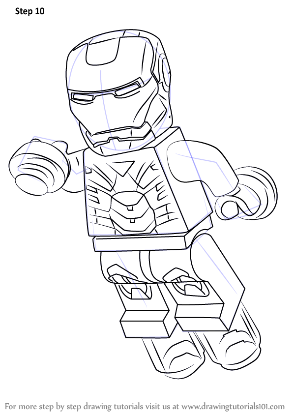 Learn How to Draw Lego Iron Man