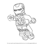 How to Draw Lego Iron Man