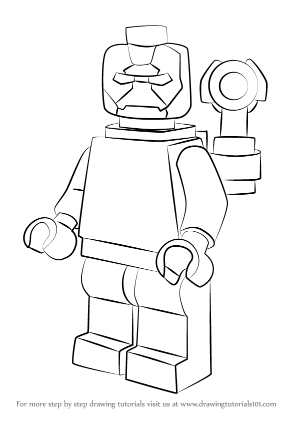 Learn How To Draw Lego Iron Patriot Lego Step By Step