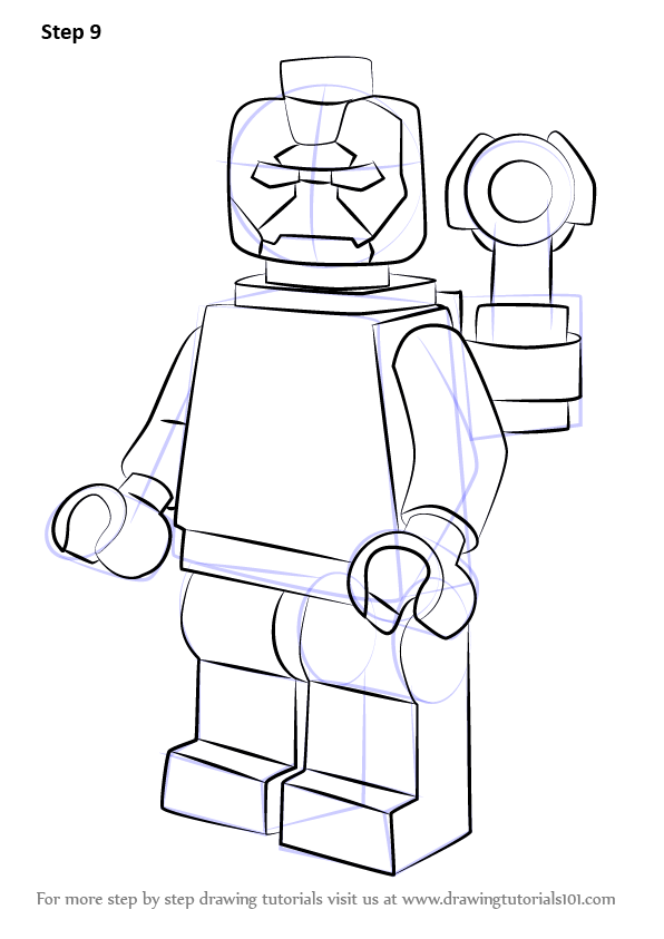 Step by step how to draw lego iron patriot for Iron patriot coloring pages