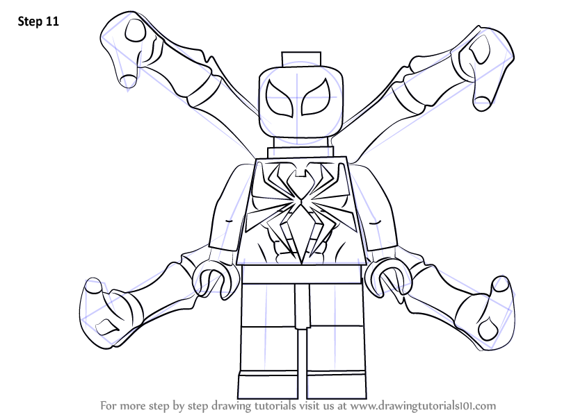 Learn How to Draw Lego Iron Spider