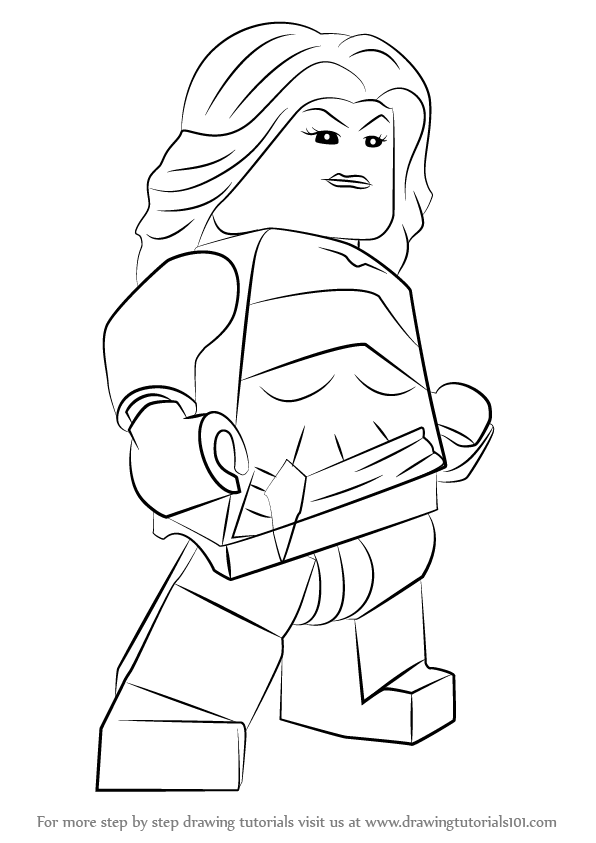 Learn How To Draw Lego Jessica Jones Lego Step By Step