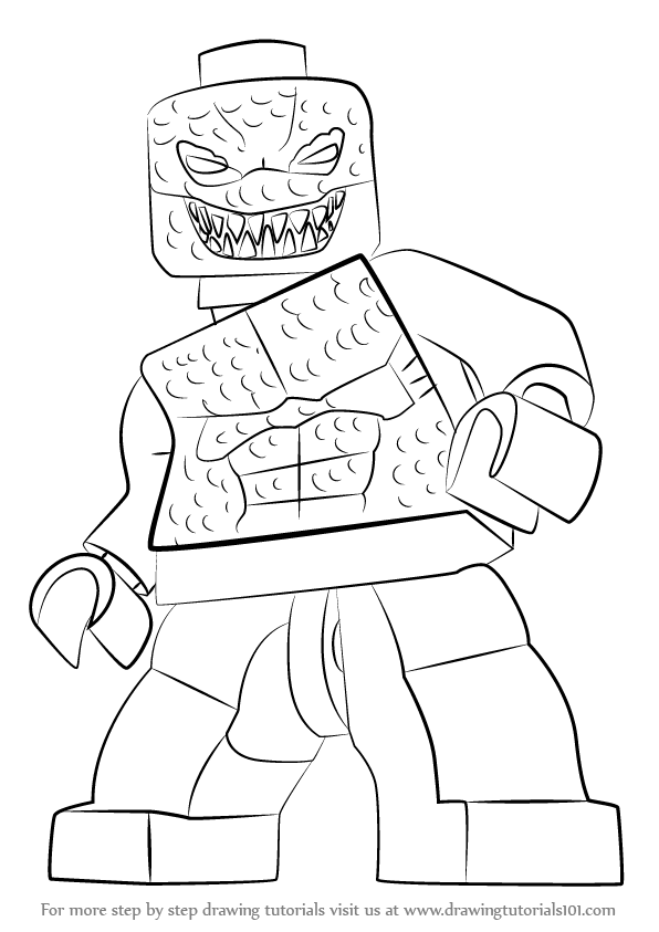 Learn How to Draw Lego Killer Croc Lego Step by Step