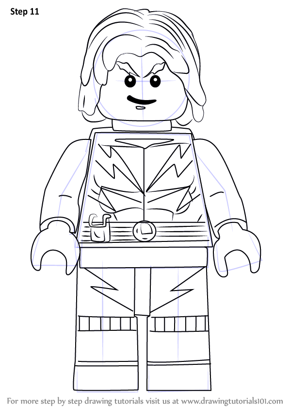 learn how to draw lego lightning lad  lego  step by step