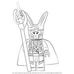 How to Draw Lego Loki
