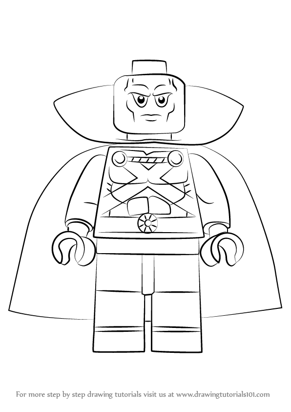 Learn How to Draw Lego Martian Manhunter (Lego) Step by ...