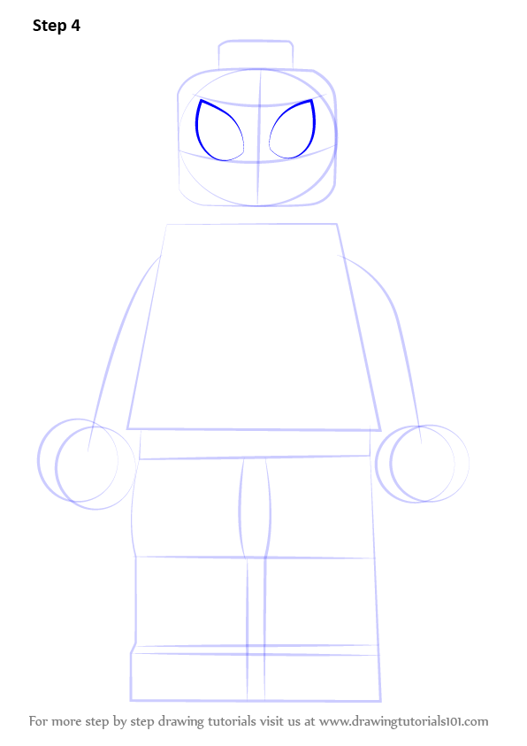 Learn How To Draw Lego Miles Morales Lego Step By Step