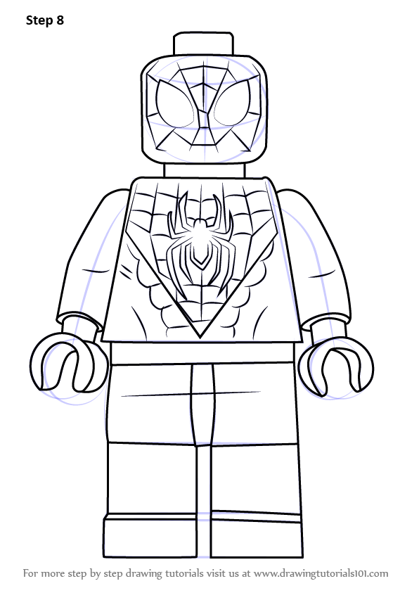 Step By Step How To Draw Lego Miles Morales