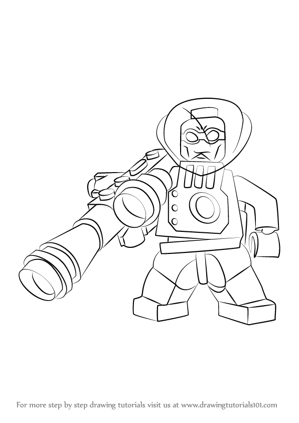 Learn How To Draw Lego Mr Freeze Lego Step By Step Drawing Tutorials