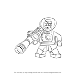 How to Draw Lego Mr. Freeze