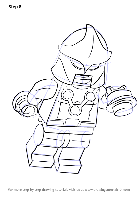 Learn How To Draw Lego Nova Lego Step By Step Drawing