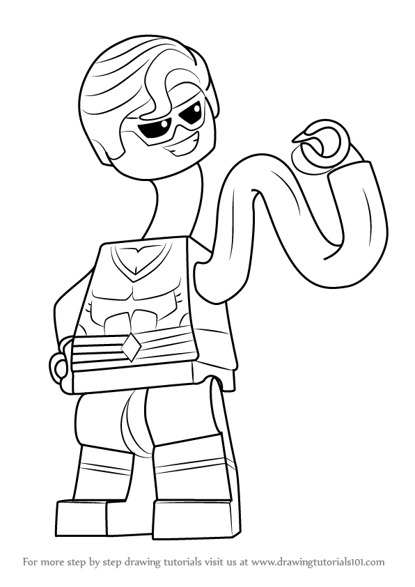 Learn How To Draw Lego Plastic Man Lego Step By Step