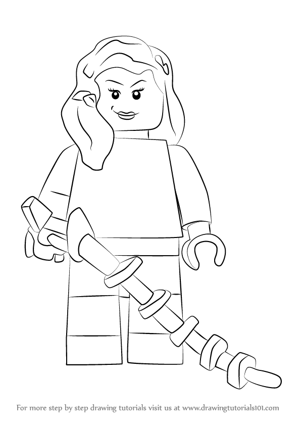 Step By Step How To Draw Lego Poison Ivy