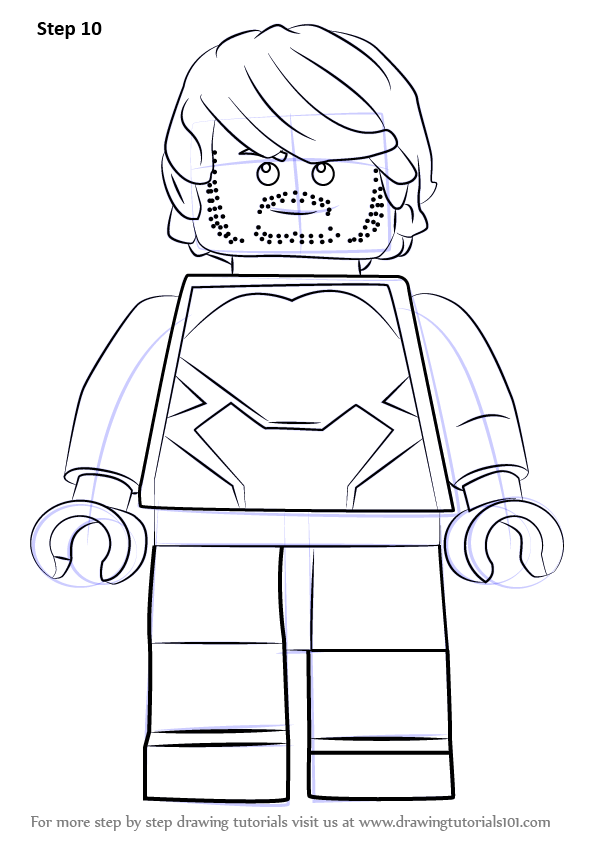 Learn How To Draw Lego Quicksilver Lego Step By Step