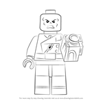 How to Draw Lego Red Skull