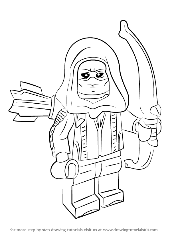 Learn How to Draw Lego Roy Harper