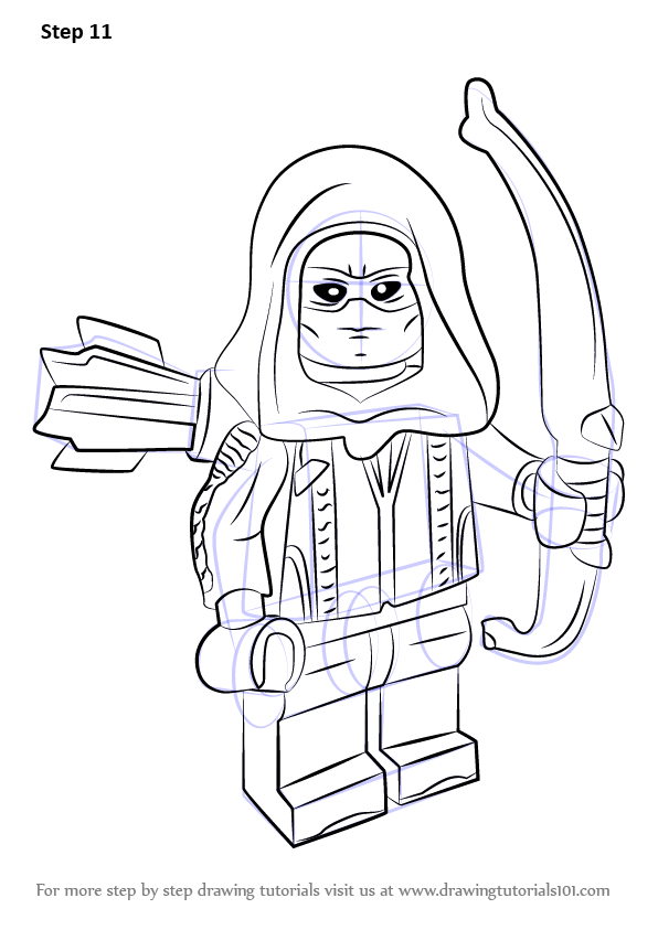 Learn How To Draw Lego Roy Harper Lego Step By Step