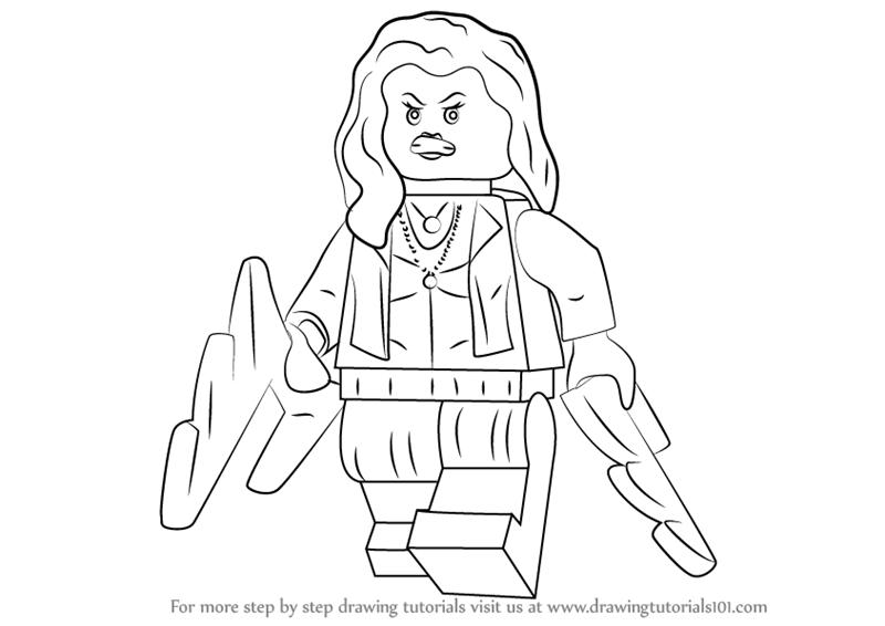 Learn How To Draw Lego Scarlet Witch Lego Step By Step