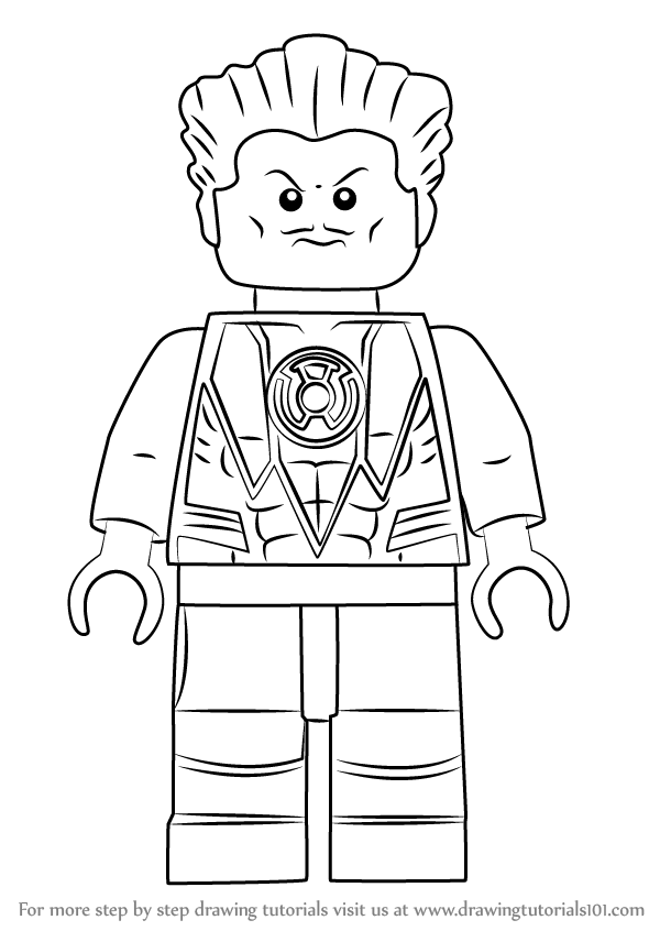 Learn How to Draw Lego Sinestro