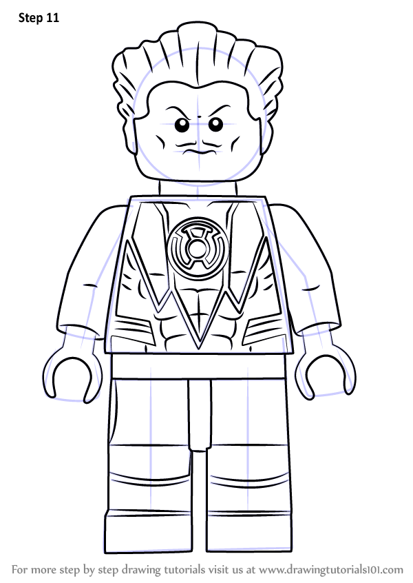 Step by Step How to Draw Lego Sinestro