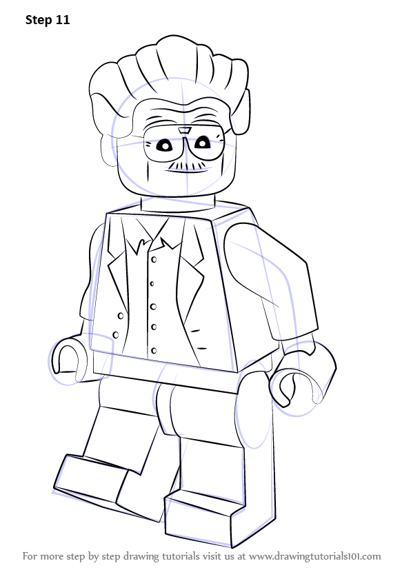 Learn How To Draw Lego Stan Lee Lego Step By Step