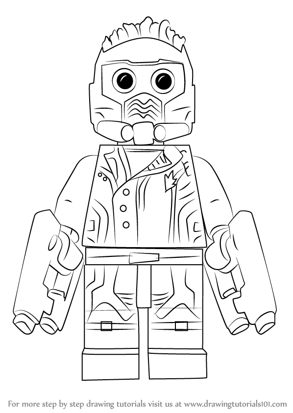 learn how to draw lego star lord lego step by step