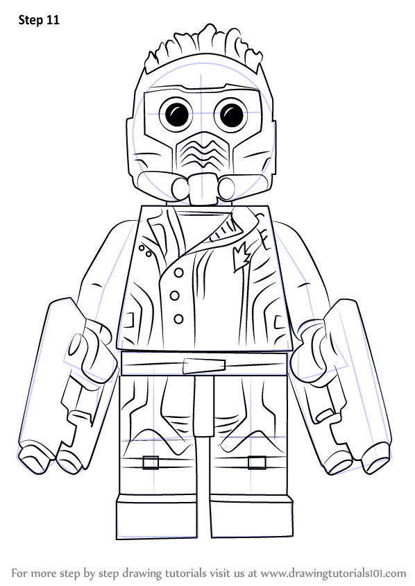 Learn How to Draw Lego Star-Lord (Lego) Step by Step
