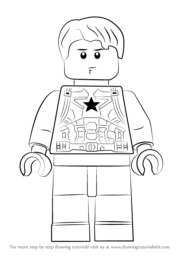 Learn How To Draw Lego Steve Rogers Lego Step By Step