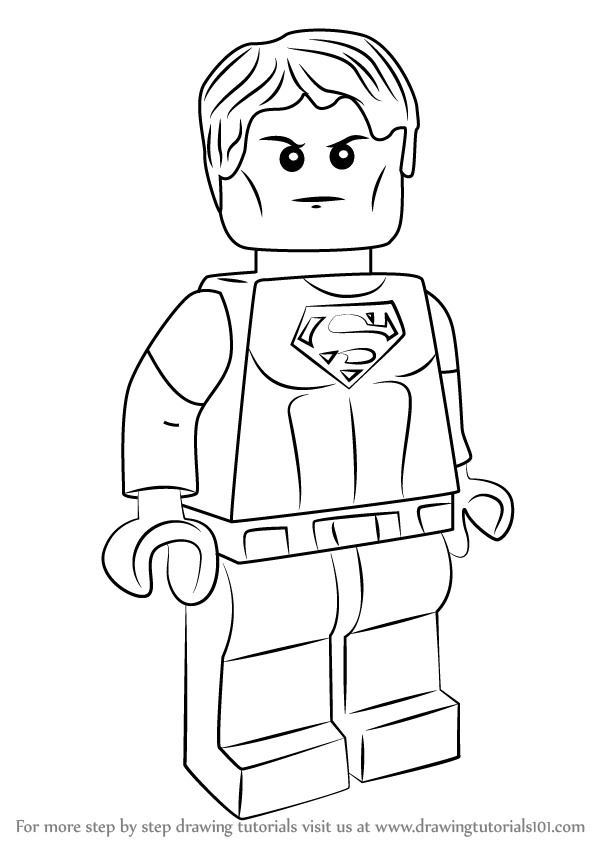 Step by Step How to Draw Lego Superboy