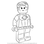 How to Draw Lego Superboy