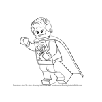 How to Draw Lego Superman