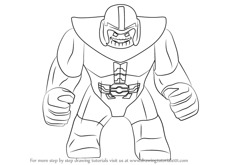Learn How to Draw Lego Thanos Lego Step by Step