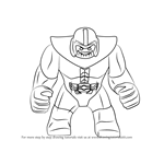 How to Draw Lego Thanos