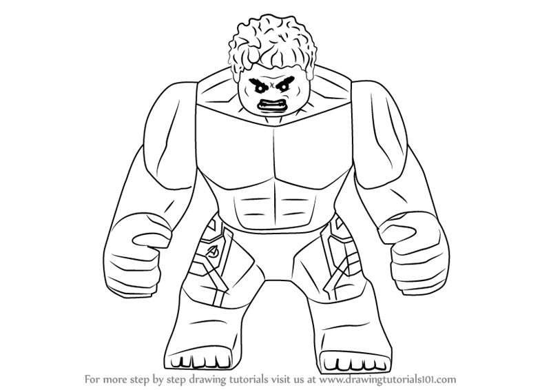 Learn How to Draw Lego The Hulk Lego Step by Step  Drawing