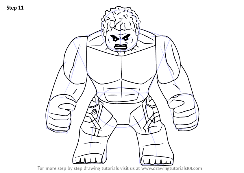 lego red hulk coloring pages - photo #4
