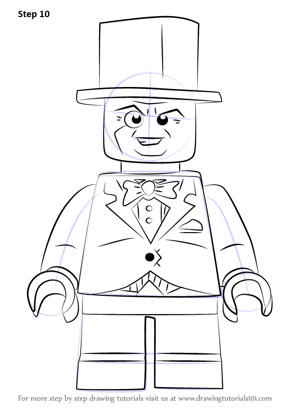 Learn How to Draw Lego The Penguin