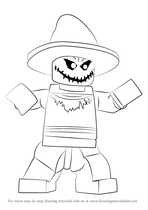 learn how to draw lego the scarecrow lego step by step drawing tutorials