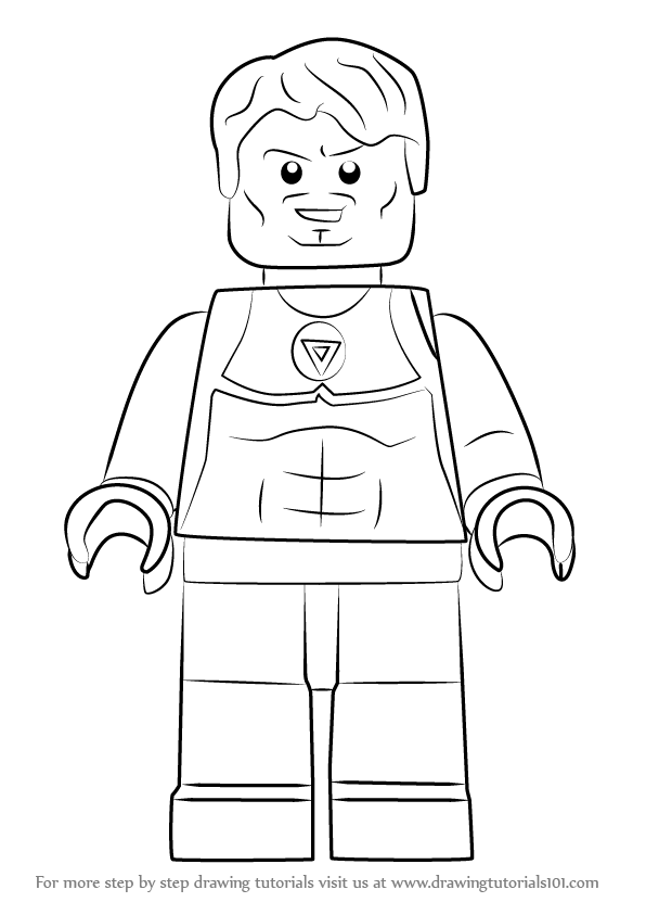 Learn How To Draw Lego Tony Stark Lego Step By Step Drawing