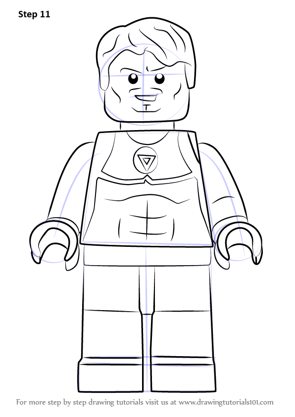 Step by step how to draw lego tony stark for Tony stark coloring pages