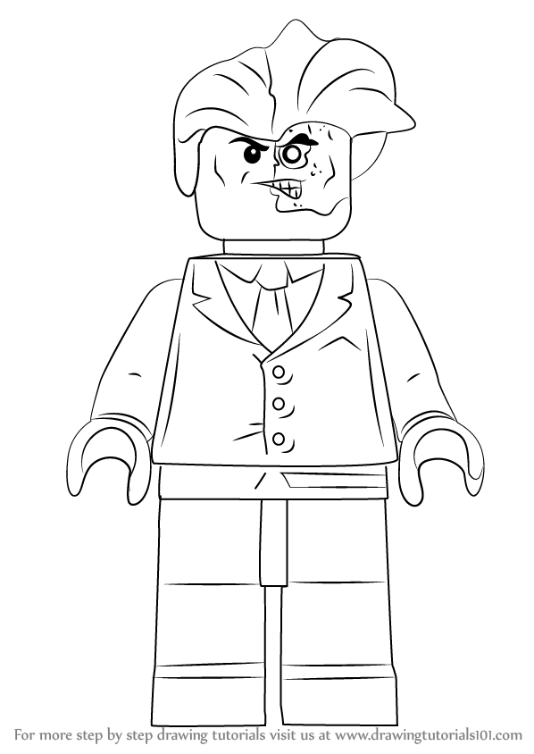 Learn How to Draw Lego Two-Face (Lego) Step by Step ...